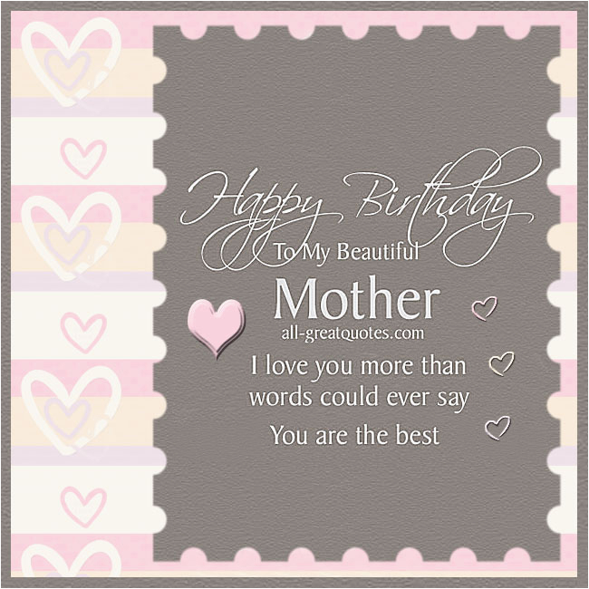 happy birthday to my beautiful mother gold beaded lace card all greatquotes com
