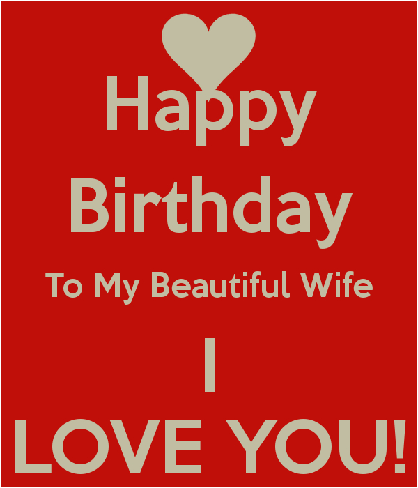 happy birthday to my beautiful wife