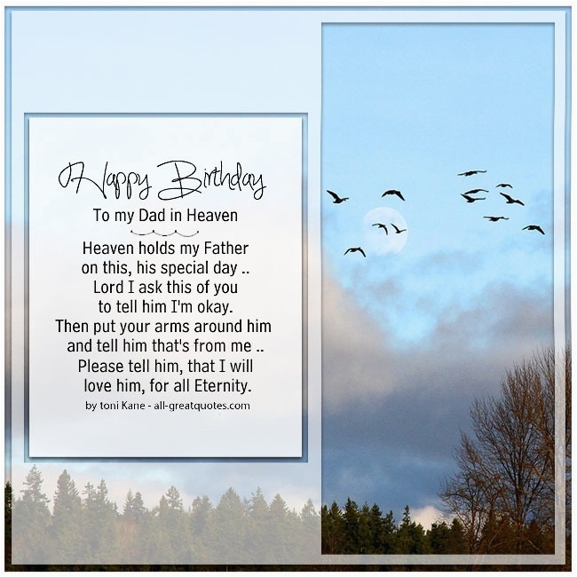 Happy Birthday To My Father In Heaven Quotes Birthdaybuzz