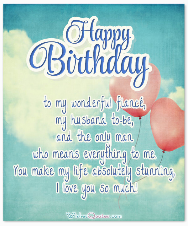 fiance birthday messages