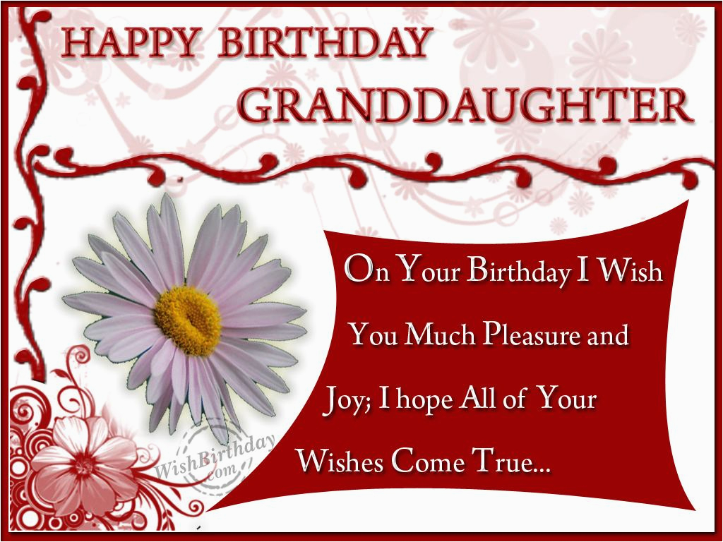 Happy Birthday to My Granddaughter Quotes Happy Birthday Granddaughter Quotes Quotesgram