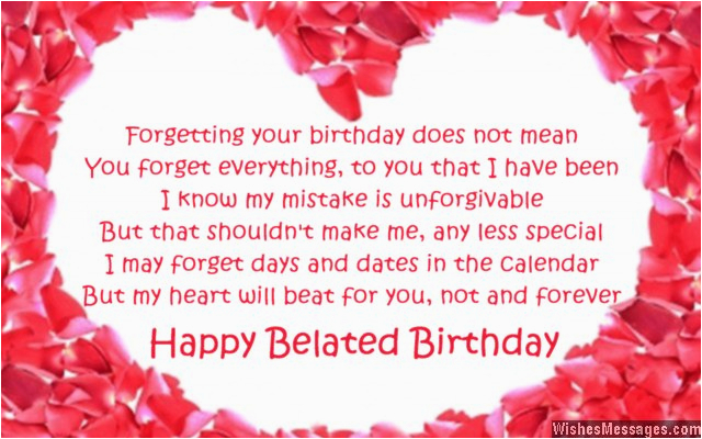 belated birthday poems for husband late birthday wishes for him