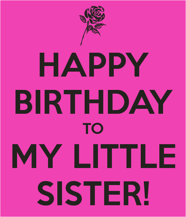 Happy Birthday To My Little Sister Quotes Baby Sister Birthday