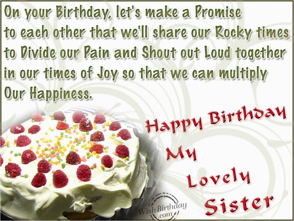 Happy Birthday to My Lovely Sister Quotes Birthday Wishes for Sister Birthday Images Pictures