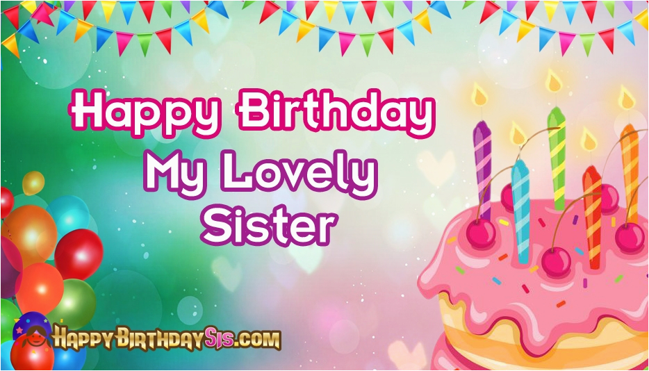 happy birthday message to my lovely sister