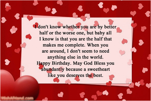 Happy Birthday to My Other Half Quotes Romantic Birthday ...