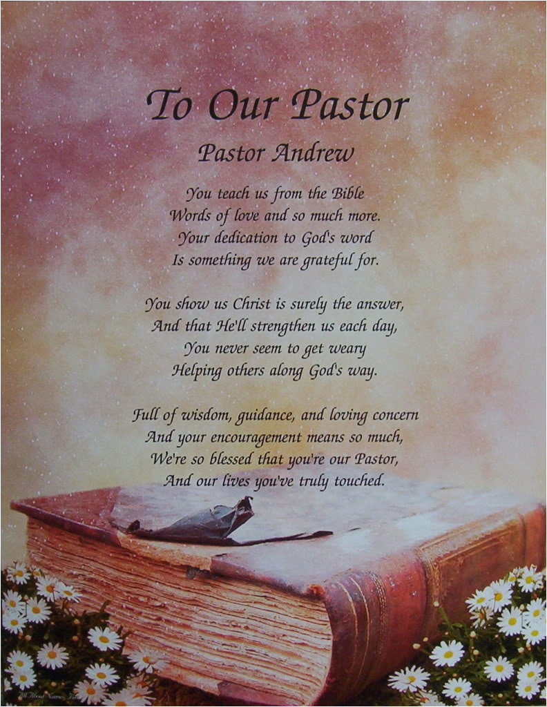pastor birthday poems or quotes