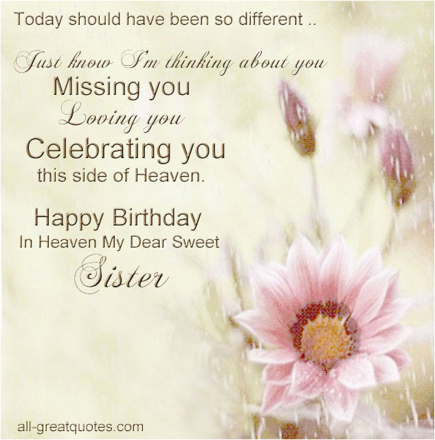 Happy Birthday to My Sister In Heaven Quotes Happy Birthday In Heaven Quotes for Facebook Quotesgram