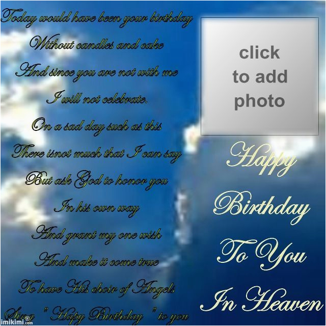 happy birthday in heaven quotes for facebook