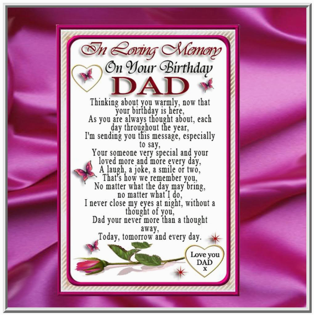 deceased father birthday quotes