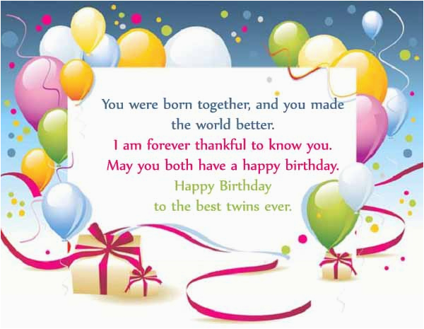 happy birthday twins wishes quotes messages