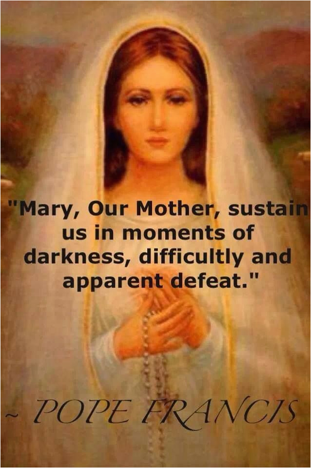 quotes pope francis on mary