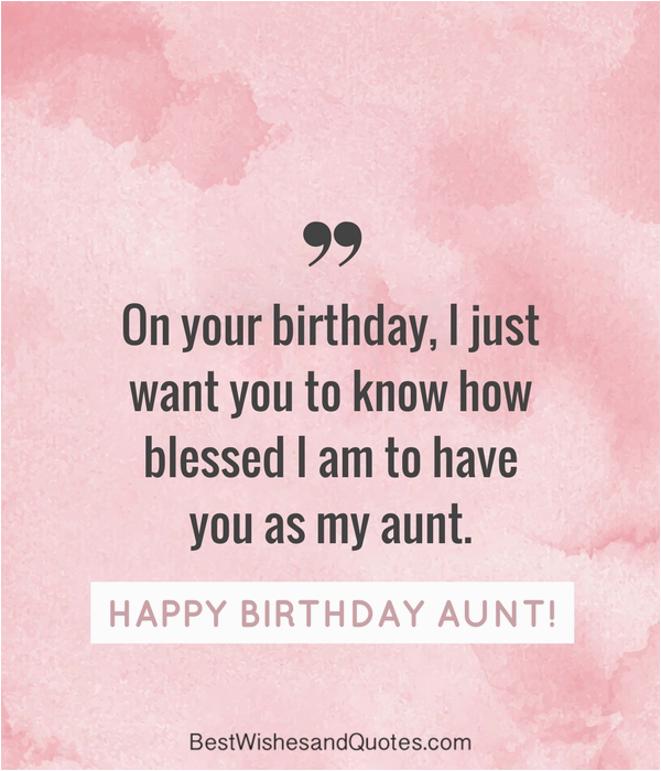 happy birthday aunt