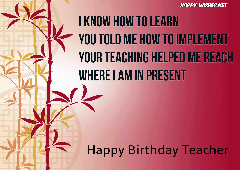 happy birthday wishes teacher