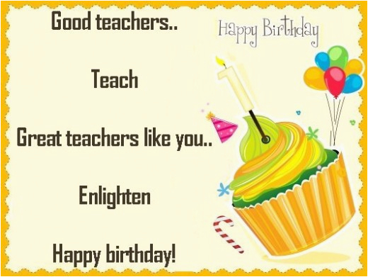 happy birthday wishes to teacher