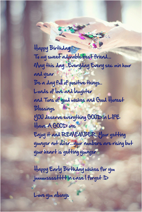 Sweet Birthday Message For My Best Friend Birthday Wishes For Best