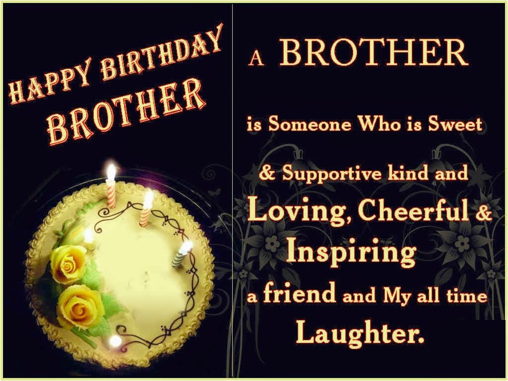 Happy Birthday Wishes To My Brother Quotes Hd Wallpaper