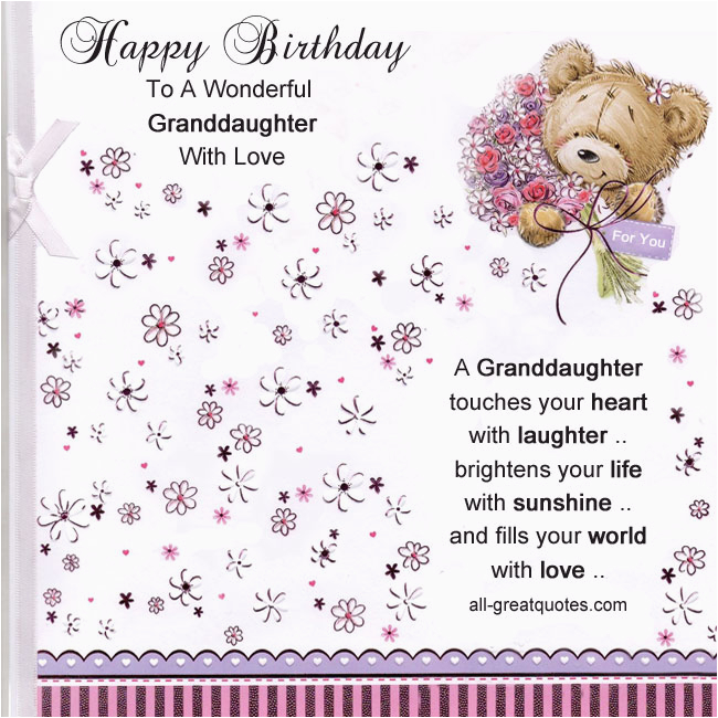Happy First Birthday Granddaughter Quotes Happy 13th Birthday Granddaughter Quotes Quotesgram