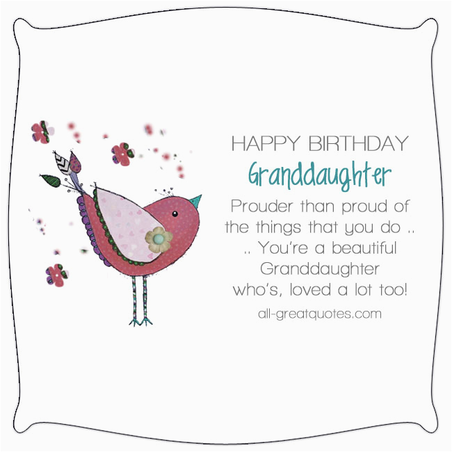 Happy First Birthday Granddaughter Quotes Happy Birthday