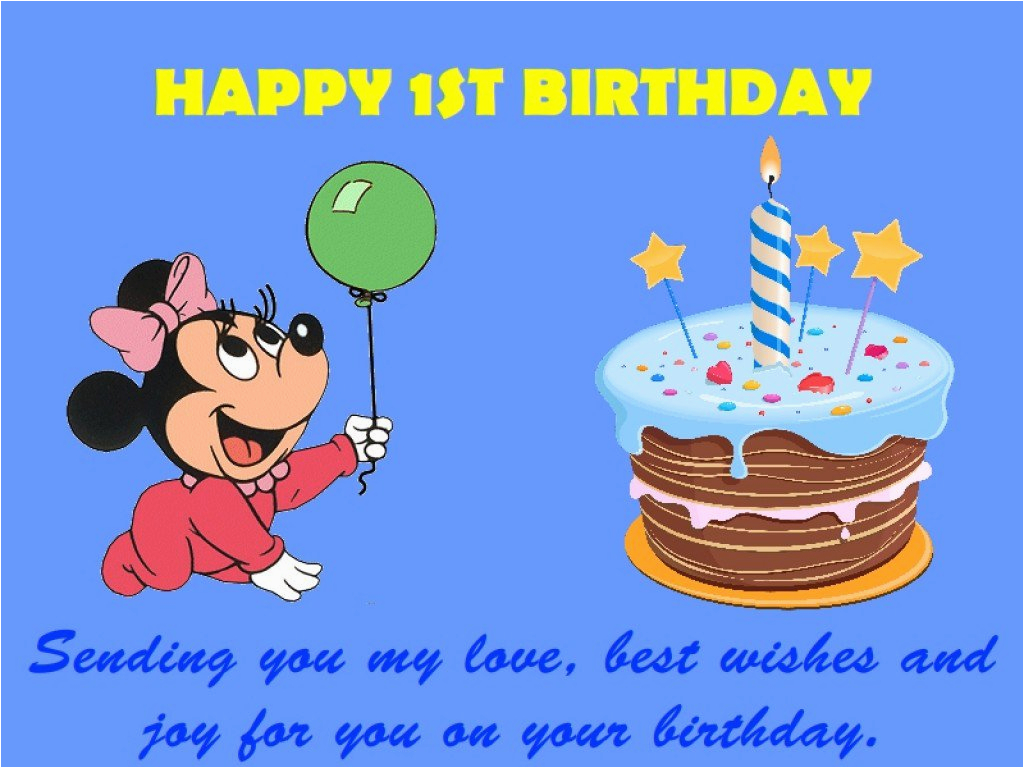 1st birthday wishes messages and quotes