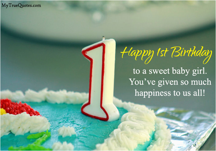 1st birthday quotes for baby girl boy