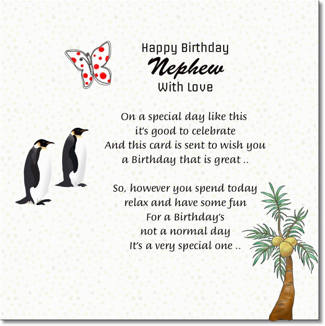 nephew happy birthday messages from