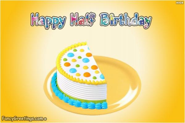 happy half birthday
