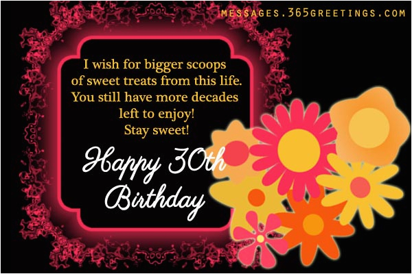 Happy Thirtieth Birthday Quotes 30th Birthday Wishes and Messages 365greetings Com