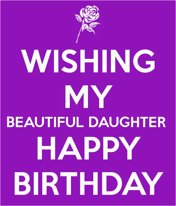 Quotes About Happy Birthday to My Daughter Posters Wishing