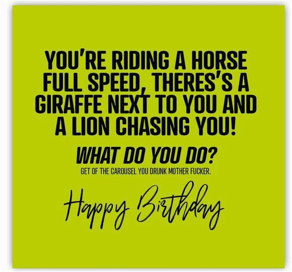 rude birthday card messages