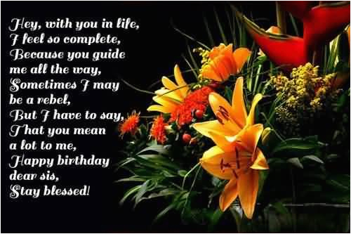 beautiful happy birthday sister quotes