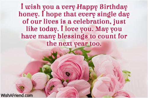 honey birthday wishes