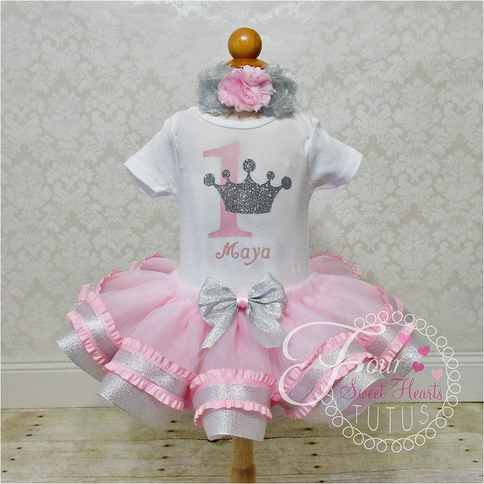 princess first birthday outfit pink