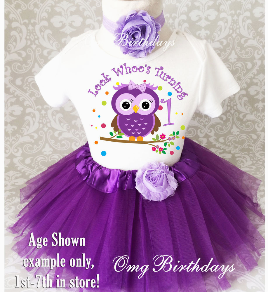 1st Birthday Girl Outfits Tutu Purple Owl Look who 39 S Baby Girl 1st First Birthday Tutu