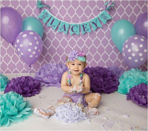 first birthday girl banner shabby chic