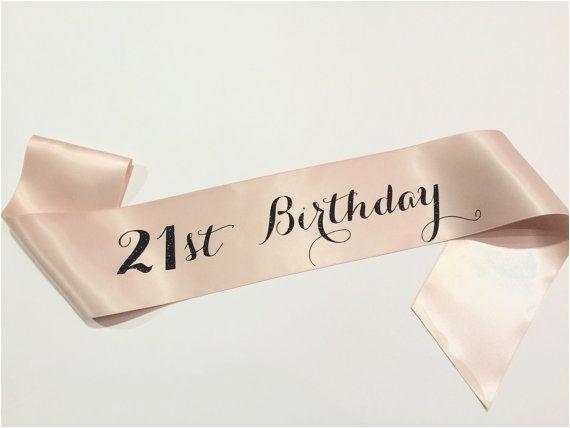 1st Birthday Girl Sash 21st Birthday Sash Finally 21 Twenty