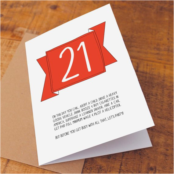 21st Birthday Card Messages Funny 21