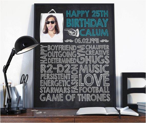 25th birthday birthday gift for him