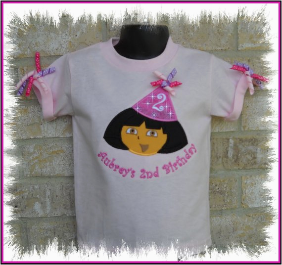 3t Birthday Girl Shirt Girls Personalized Dora Birthday Hat Shirt 2t 3t 4t 5 6