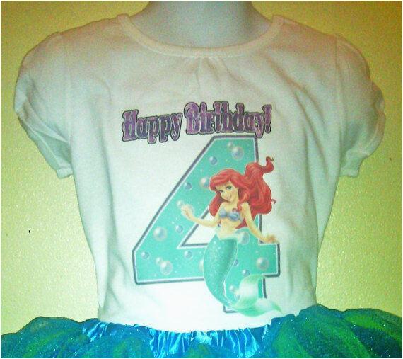 3t Birthday Girl Shirt the Little Mermaid Birthday Shirt 1t 2t 3t 4t 5t 6t 7t 8t