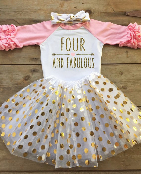 4th birthday outfit for girl fourth