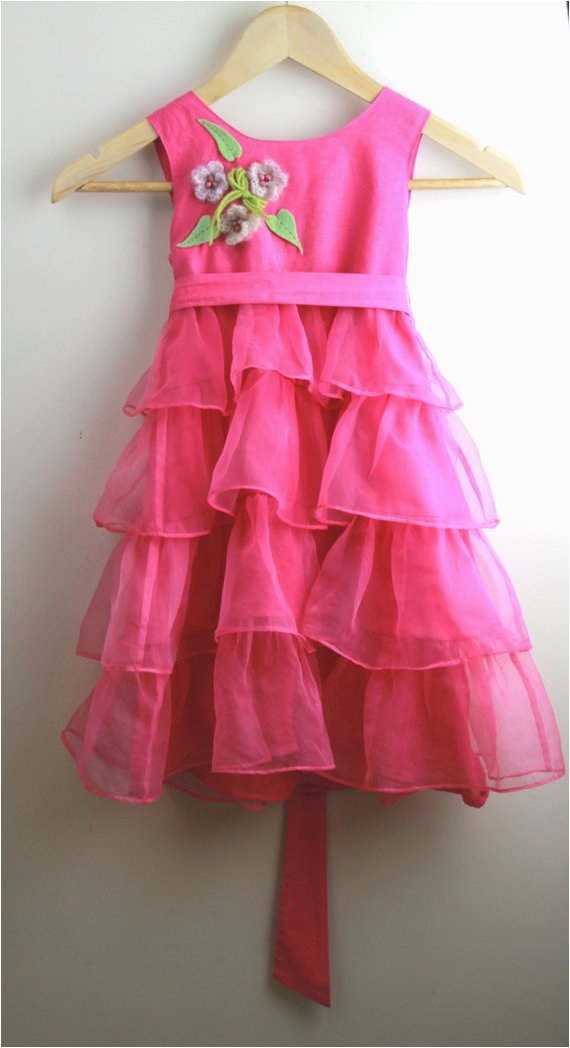 5 Year Old Birthday Girl Dress Beautiful Pink Dress 5 Year Old Birthday Girl Cotton