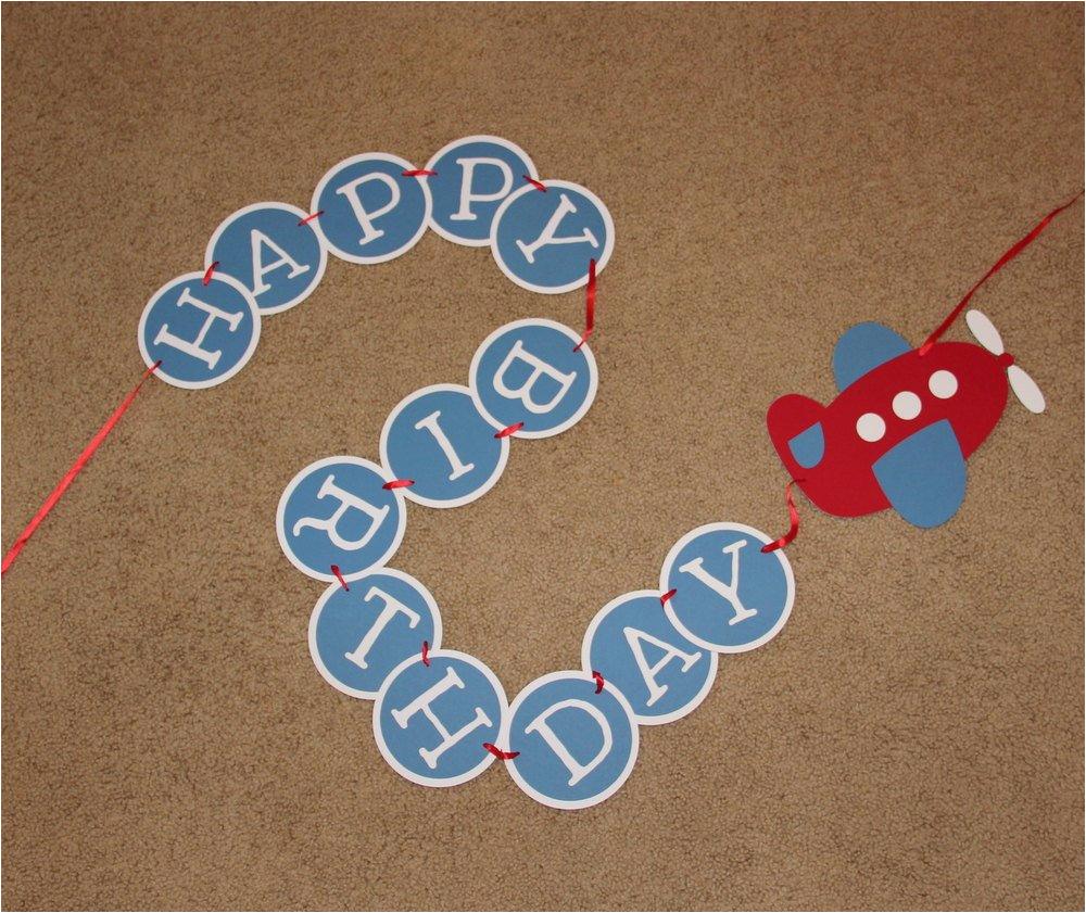 airplane birthday banner happy birthday