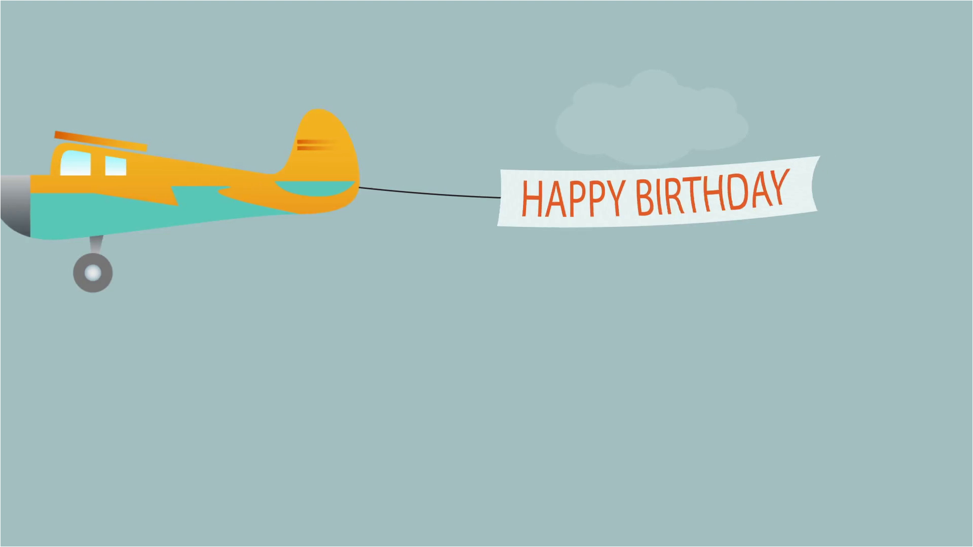 the plane flies with long banners with happy birthday text synkkl8eimjd48owa0