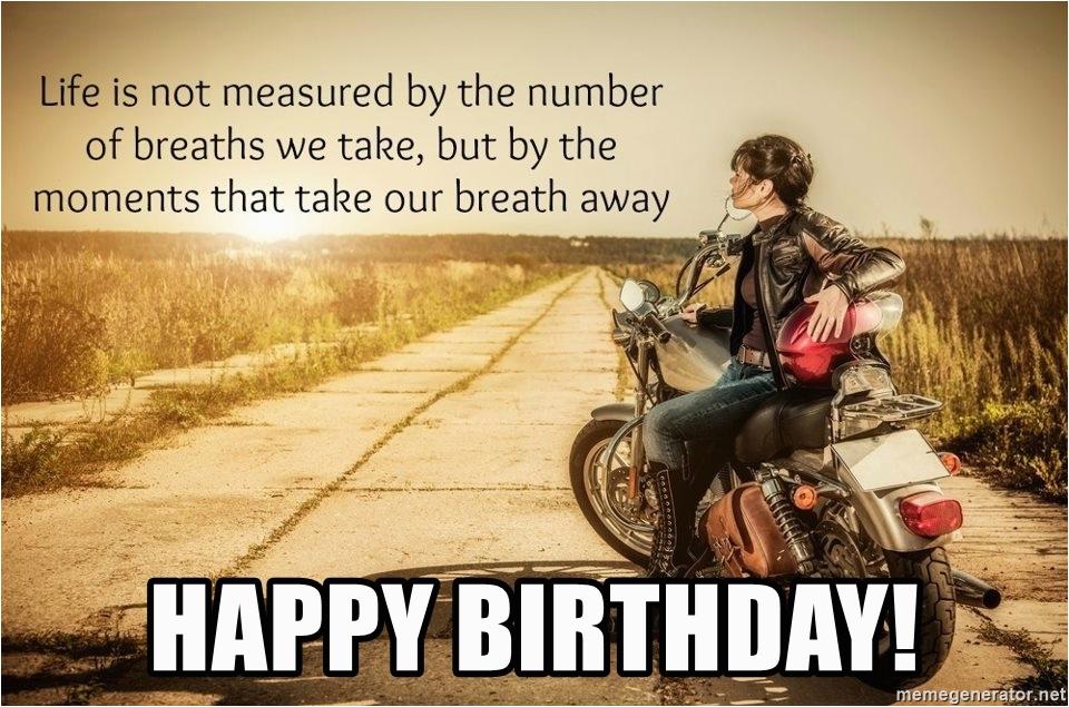 Biker Birthday Memes Happy Meme Generator