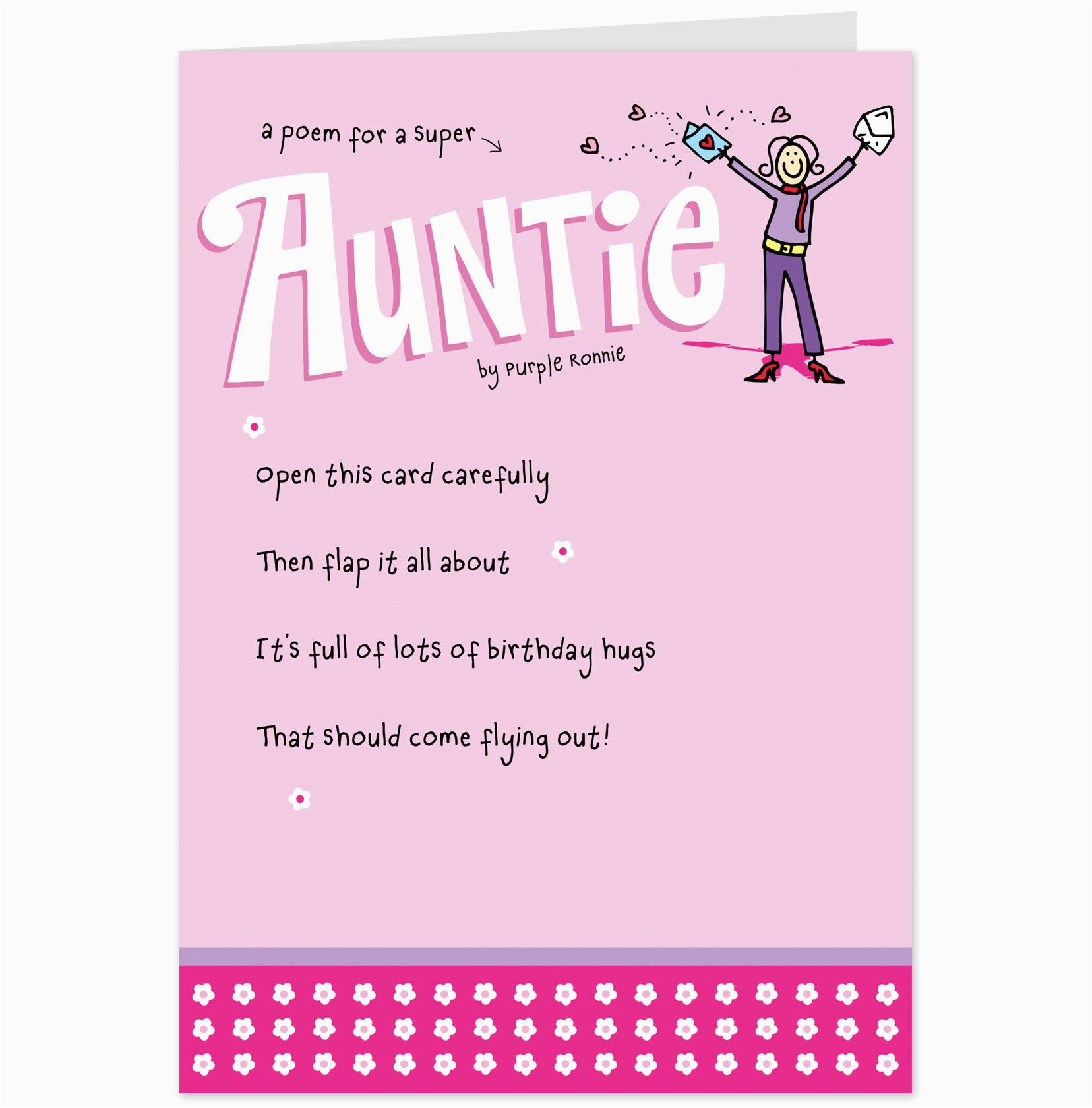Birthday Card for Aunt Funny Funny Aunt Birthday Quotes Quotesgram