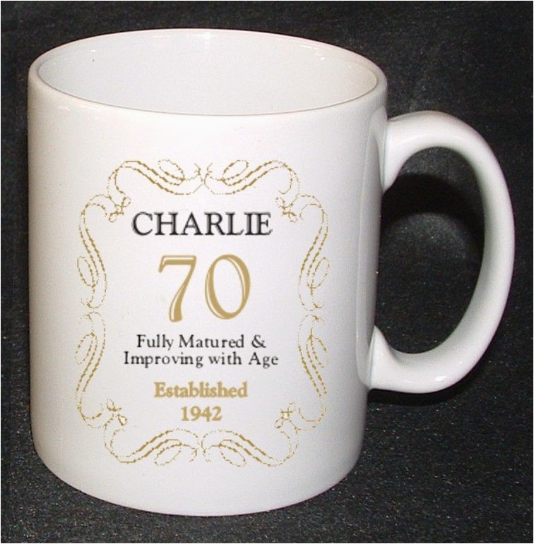Birthday Gifts For Him Age 70 Personalised 70th Mug Gift Born In 1943