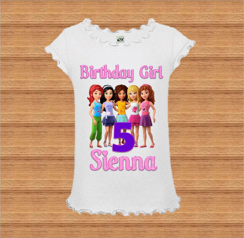 lego girls birthday shirt lego friends