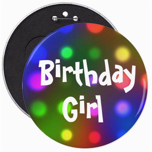 birthday girl button pin 145676013684294220
