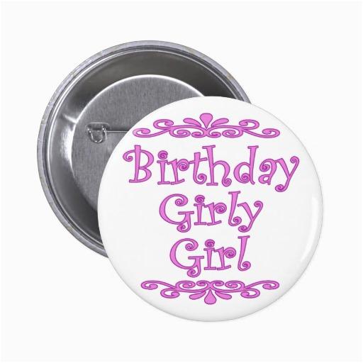 birthday girly girl button 145581350118400530